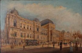 Unknown artist. Vienna. [First half of the XX century]. Oil on wood.Framed.- - -15.00 % buyer's