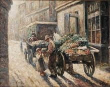 Prucha, Gustav. The Vegetable seller. [Late of the XIX - beginning oh the XX century]. Oil on