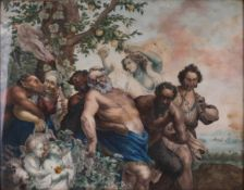 Lange, V. Bacchanalia. 1810. Oil on canvas. 38,5x19 cm.Signed and framed.- - -15.00 % buyer's