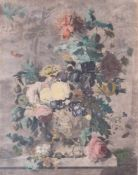 Jan van Huysum. Bouquet of flowers. 1722. Сopperplate. 50,5x40 cm.Framed.- - -15.00 % buyer's