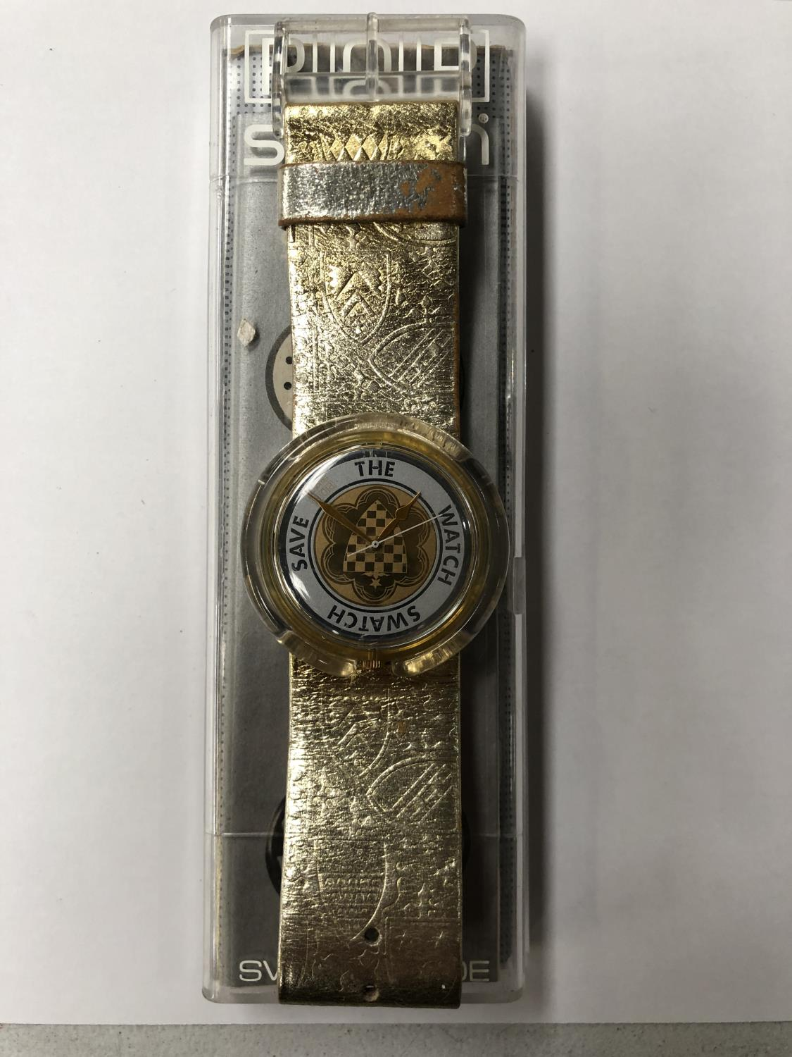 Lot 858 - A 1991 BOXED SWATCH WATCH