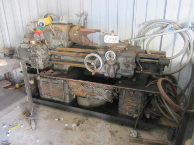 Lot 278 - Lathe (under repair in shed)