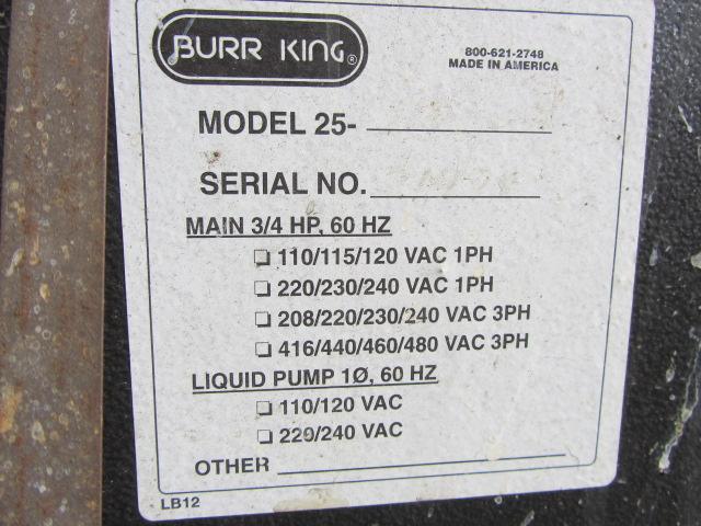 Lot 266C - Burr King Vibra King 25 Vibratory Finisher