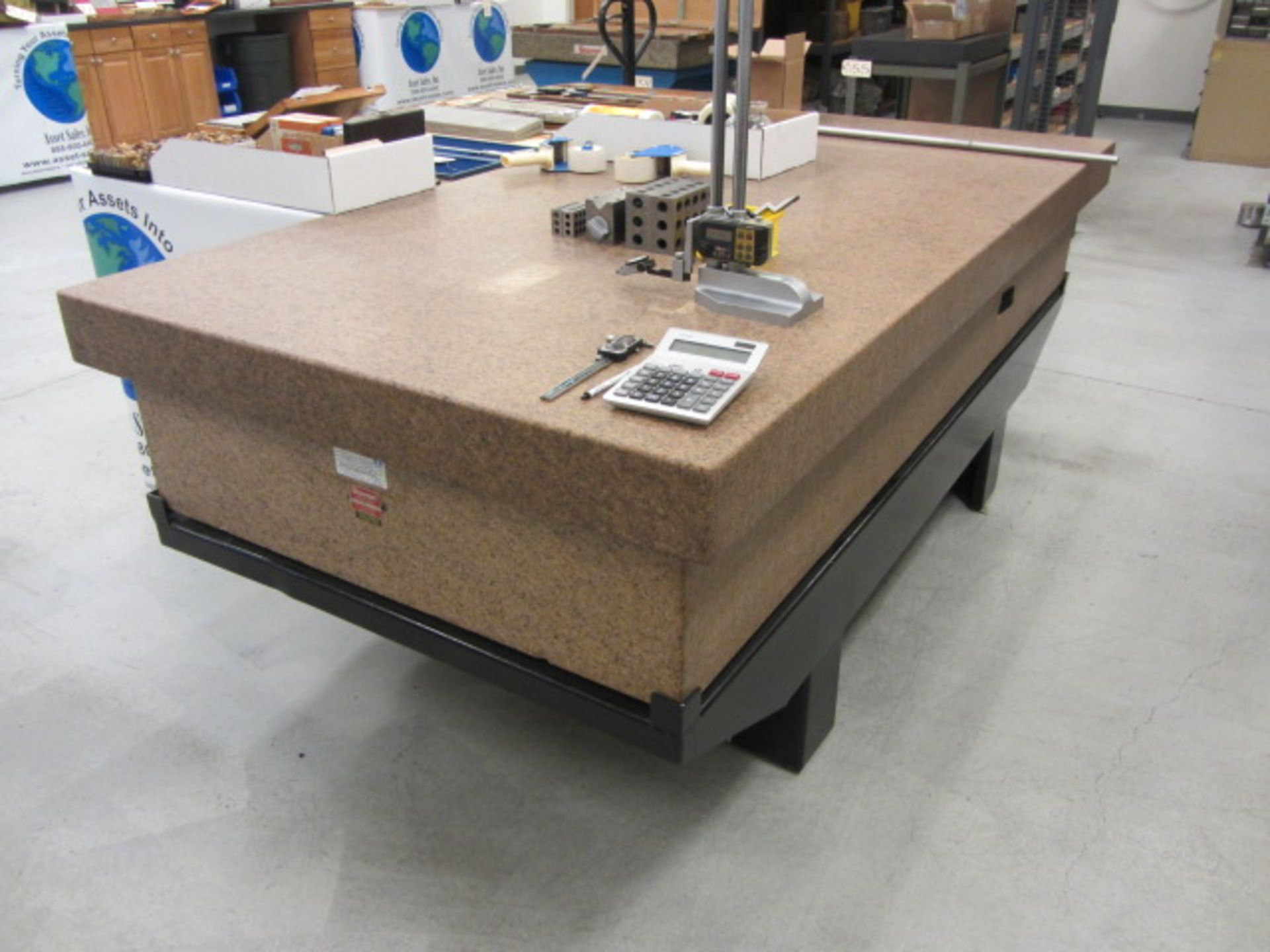 Lot 53 - Starrett 48'' x 96'' Grade A Surface Plate with Stand