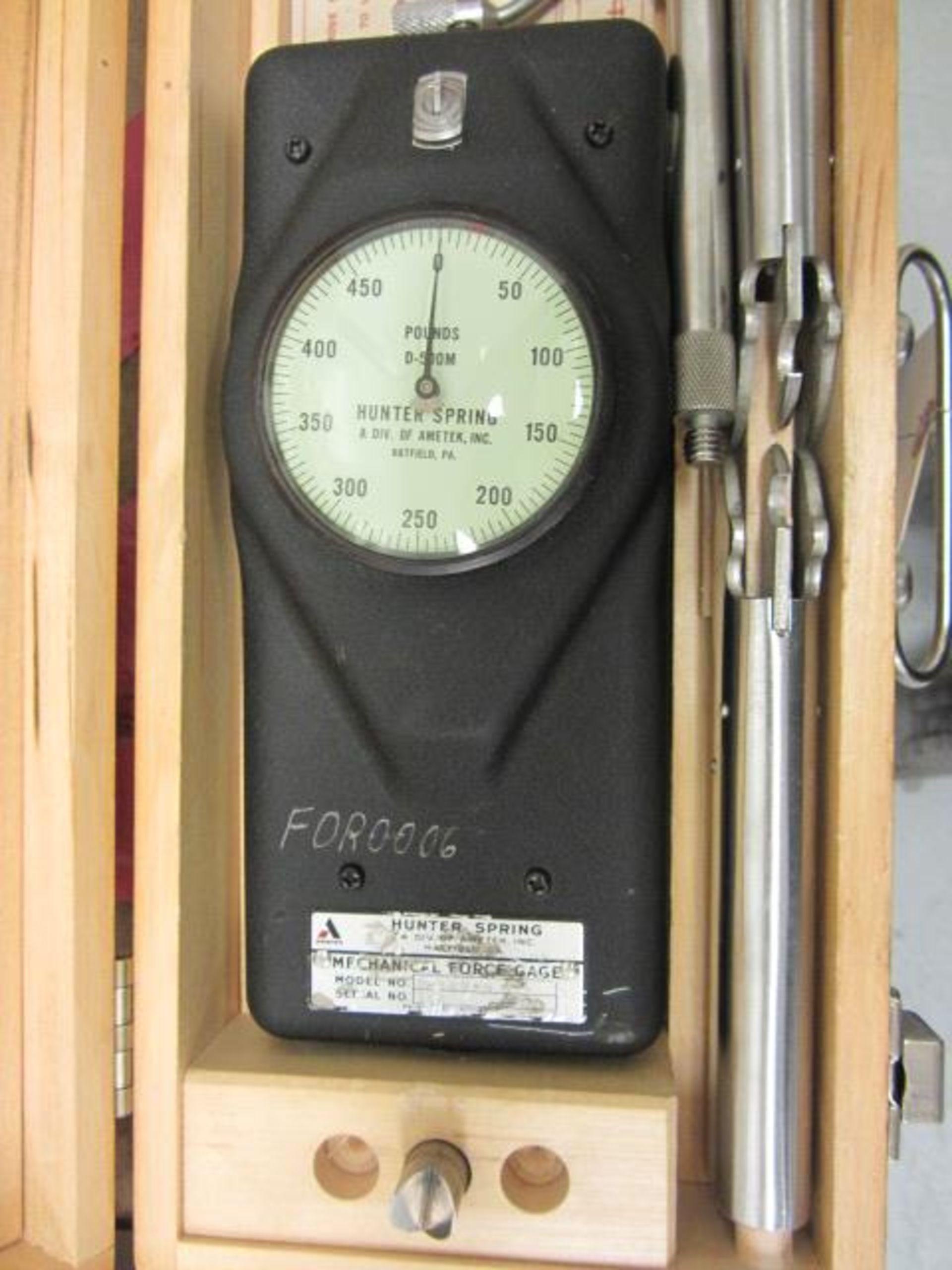 Lot 41 - Hunter Spring D-500-M Force Gauge