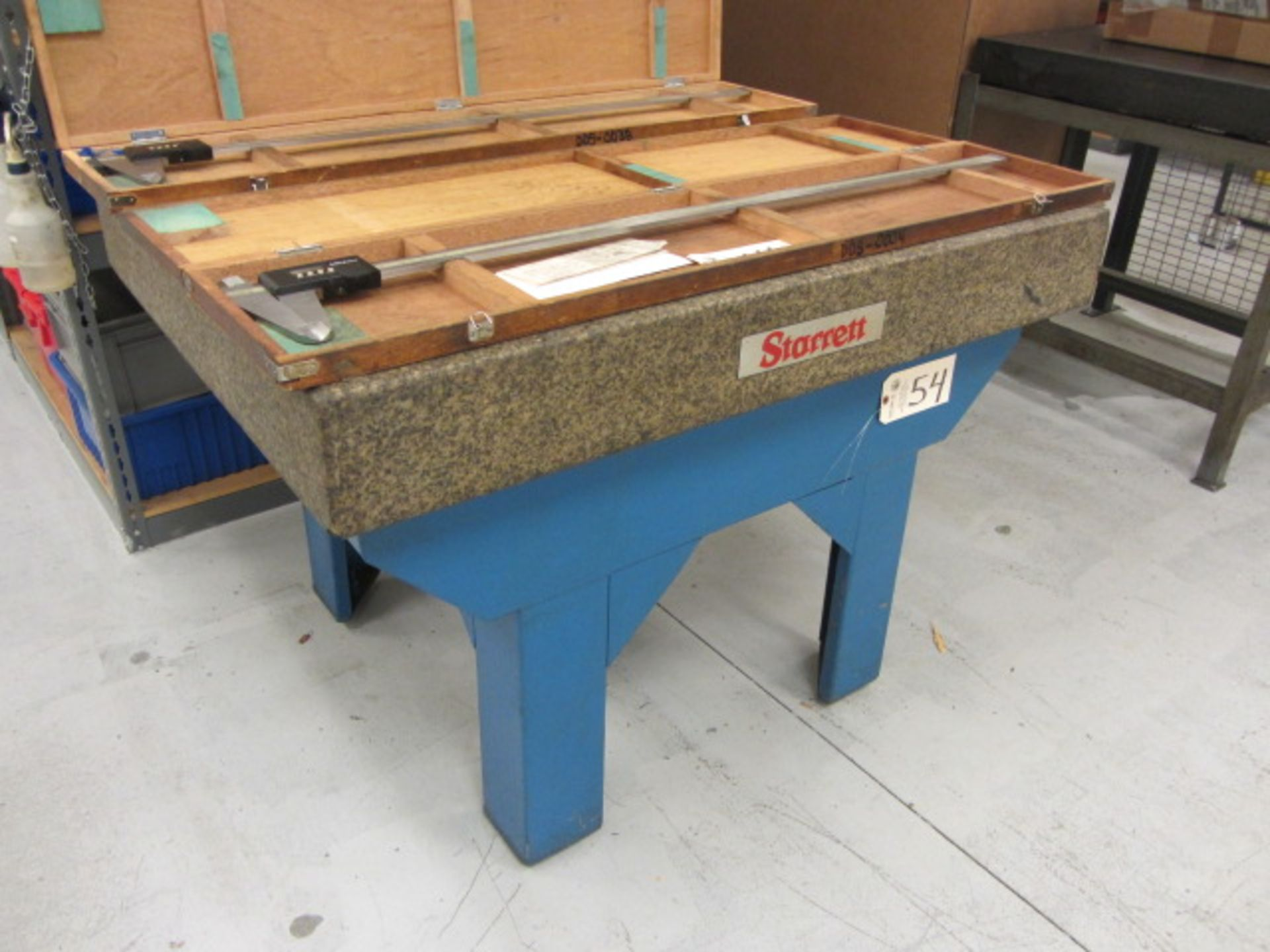Lot 54 - Starrett 36'' x 48'' Surface Plate with Stand