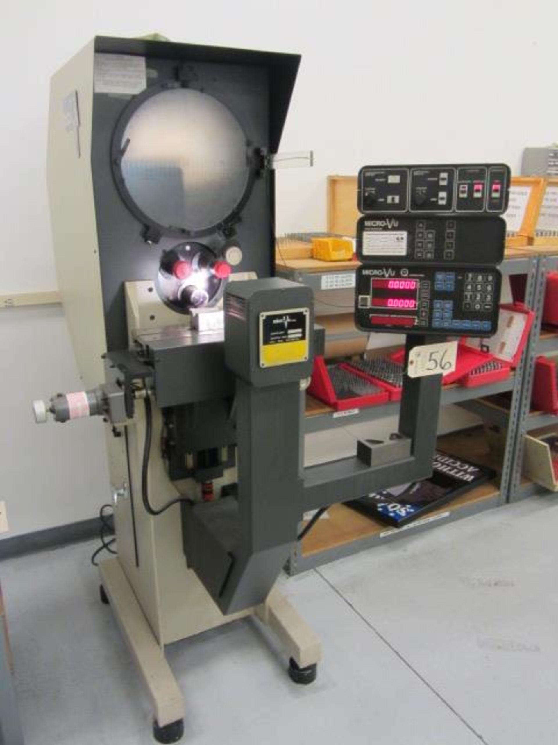 Lot 56 - Microvu Model Century 2014 14'' Optical Comparator with Micro-VU Q-16 Computer Control, Edge