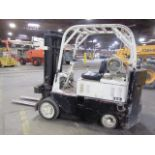Lot 711B - Clark Type Approx 6,000lb Capacity LP Forklift with 4' Forks, Solid Tires