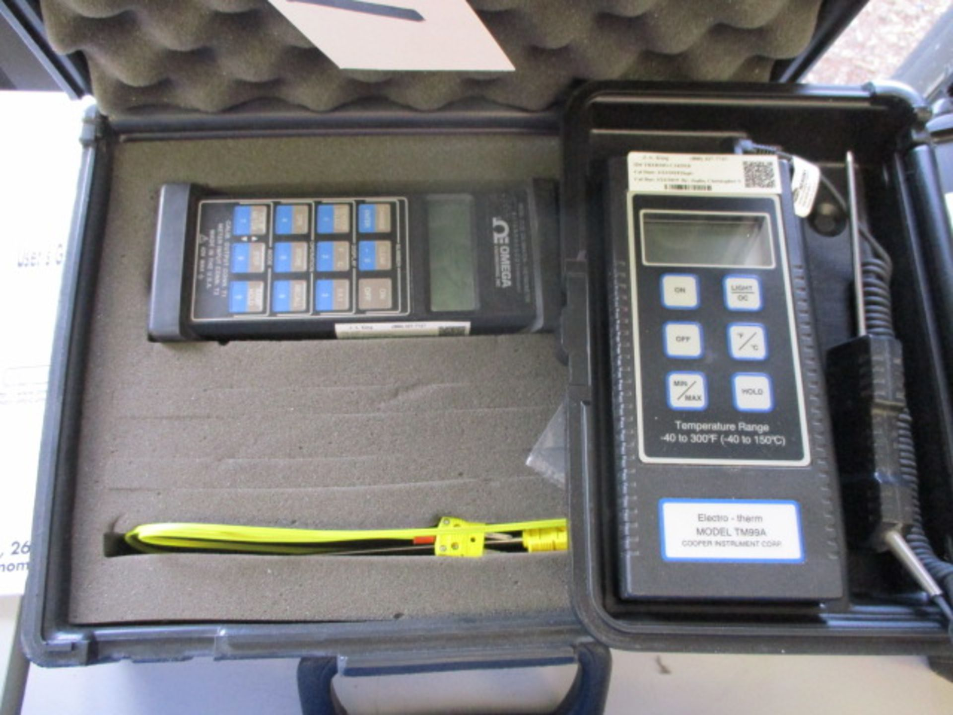 Lot 771 - Omega Calibrator / Thermometer & Cooper Thermometer