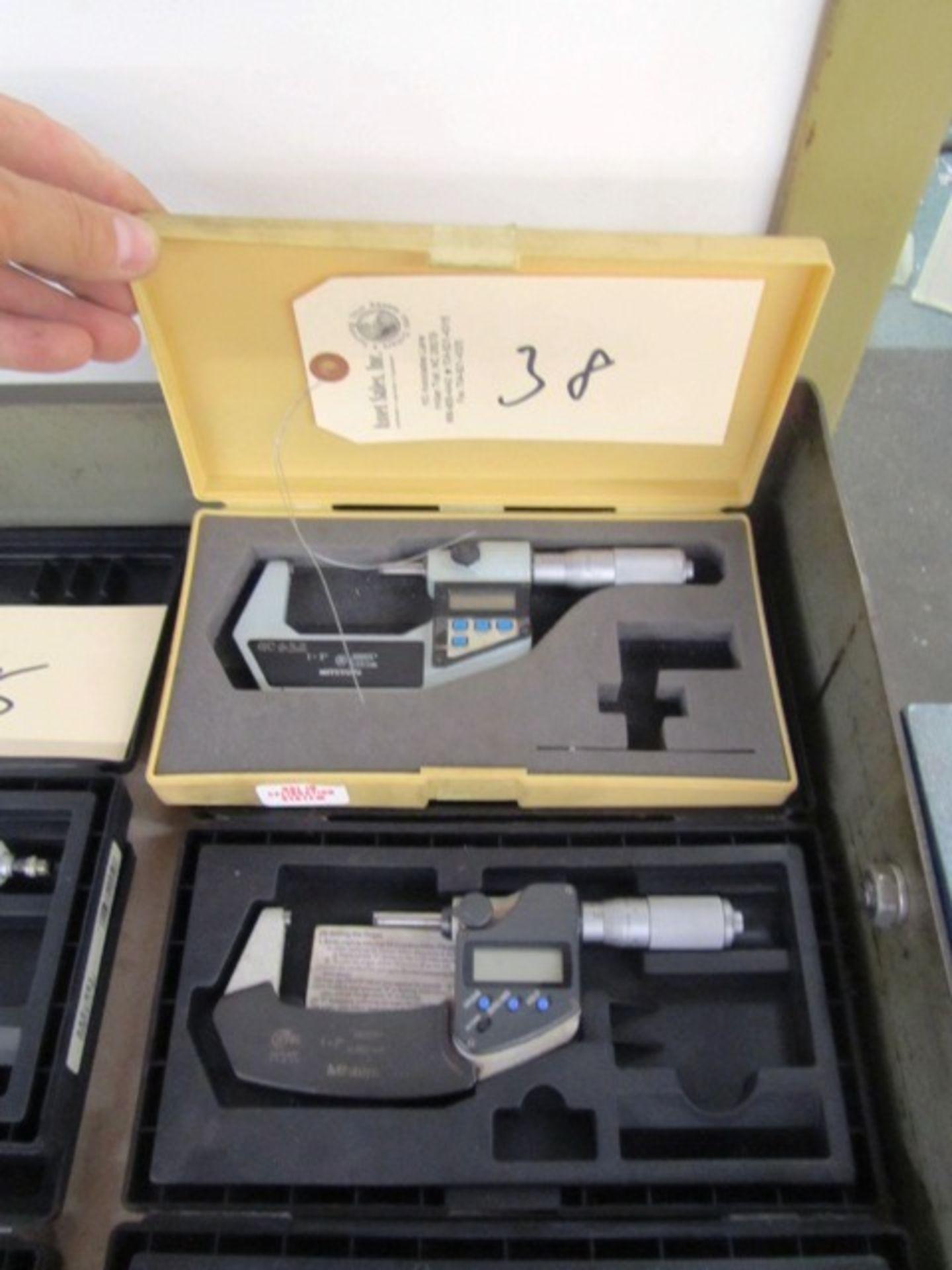 Lot 38 - (2) Mitutoyo Digital Micrometers