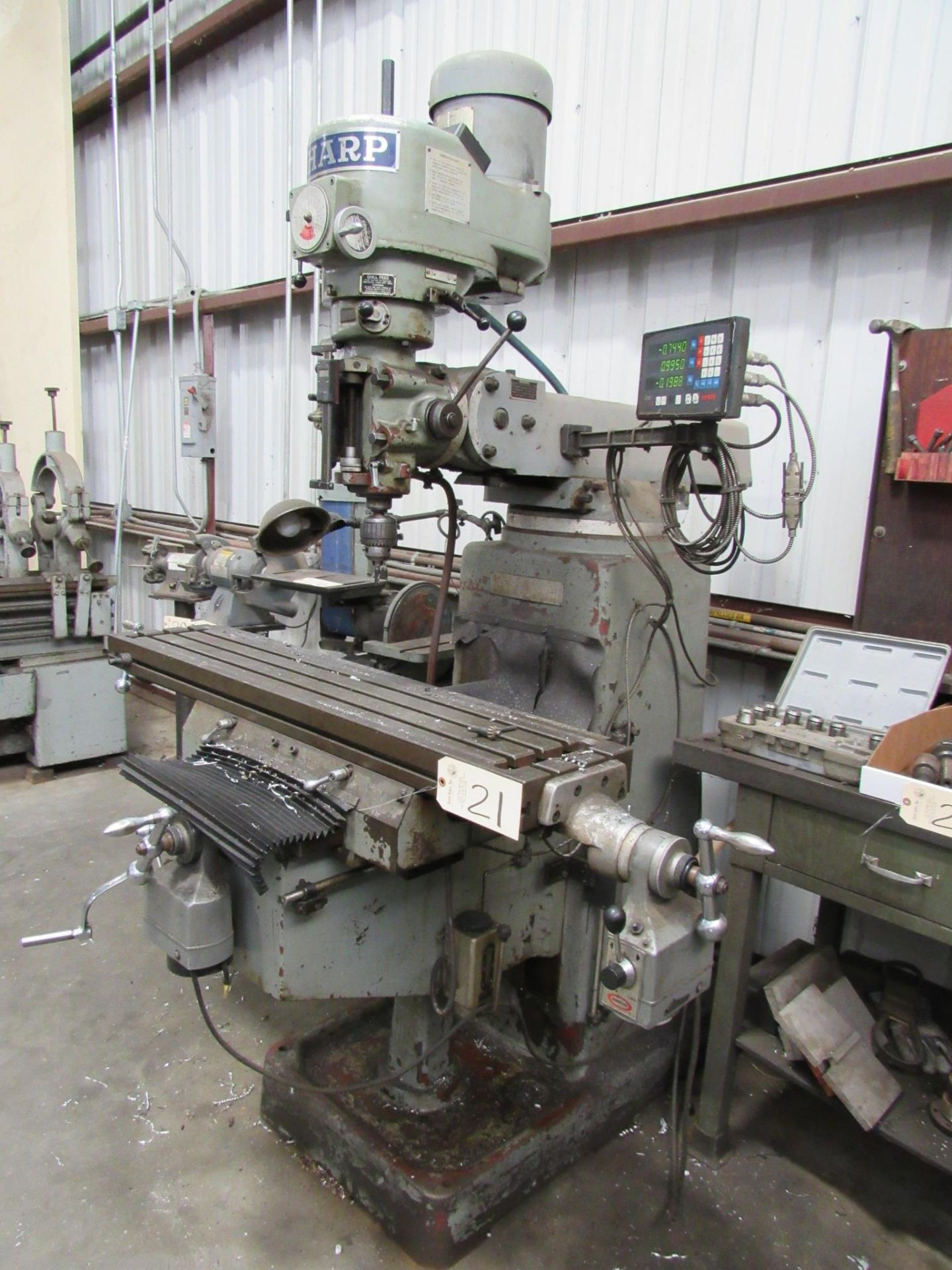 Lot 21 - Sharp Variable Speed Vertical Milling Machine