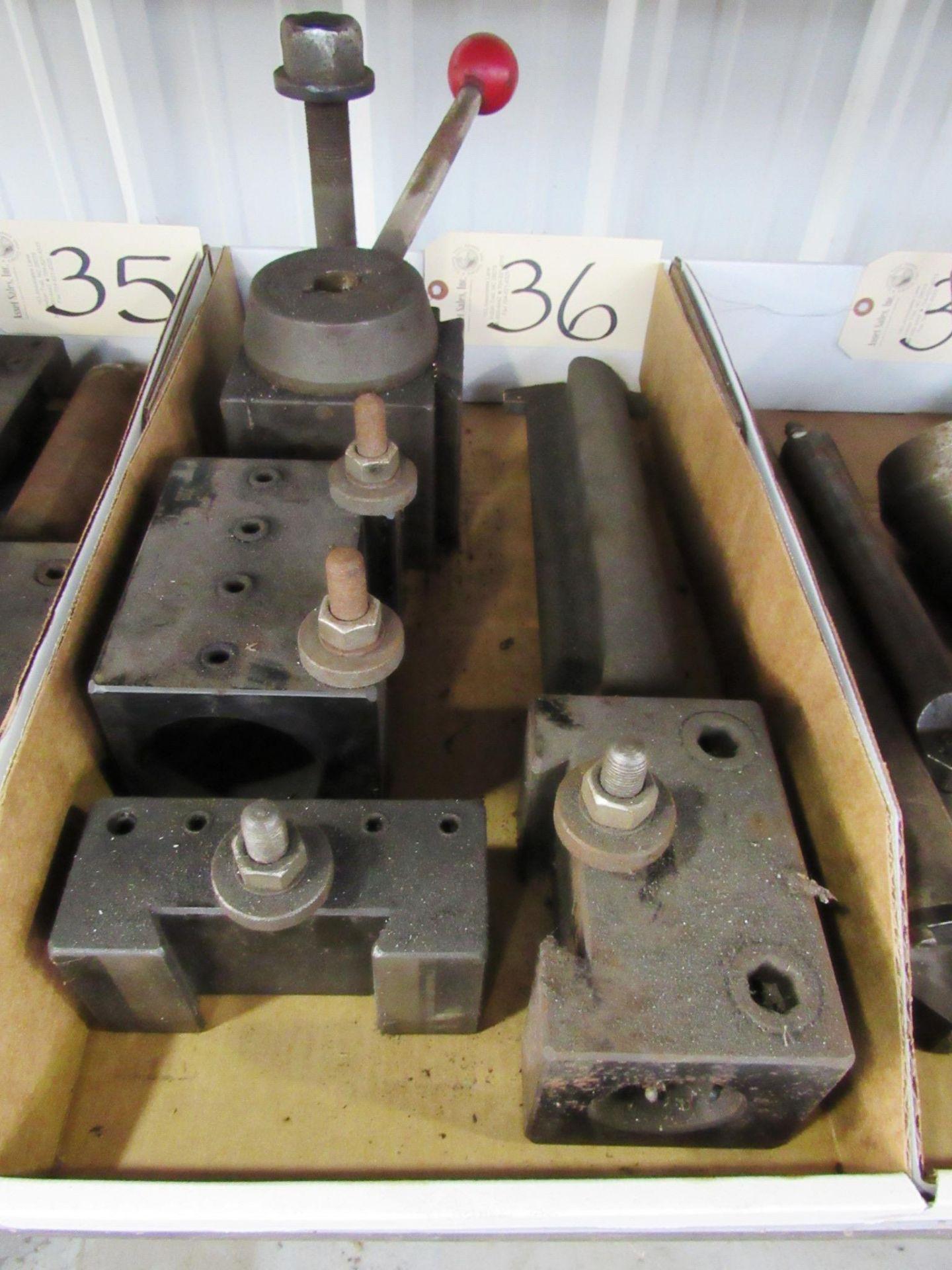 Lot 36 - Toolpost & Attachments (fits oil lathe)