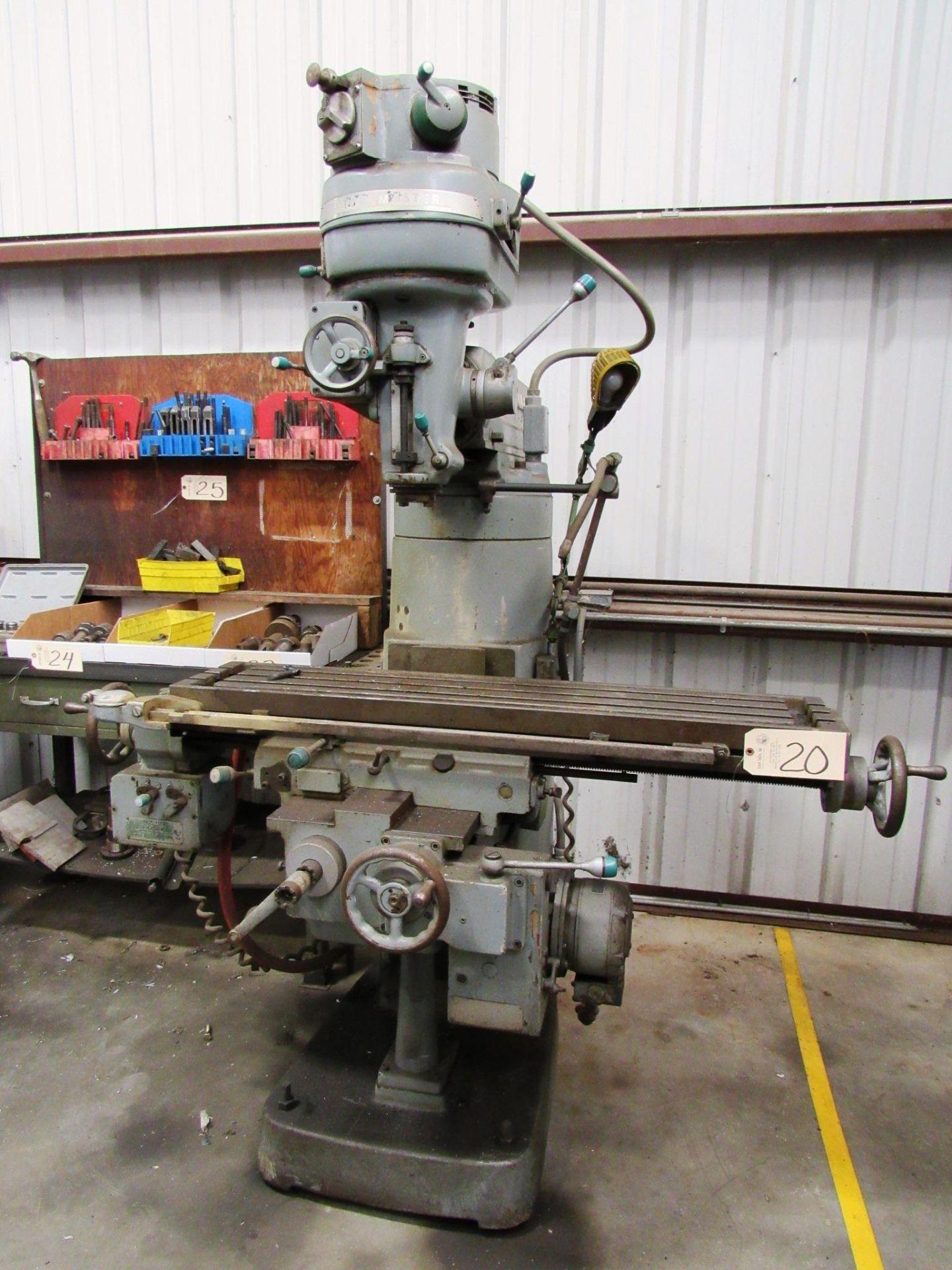 Lot 20 - Cincinnati Toolmaster Vertical Milling Machine