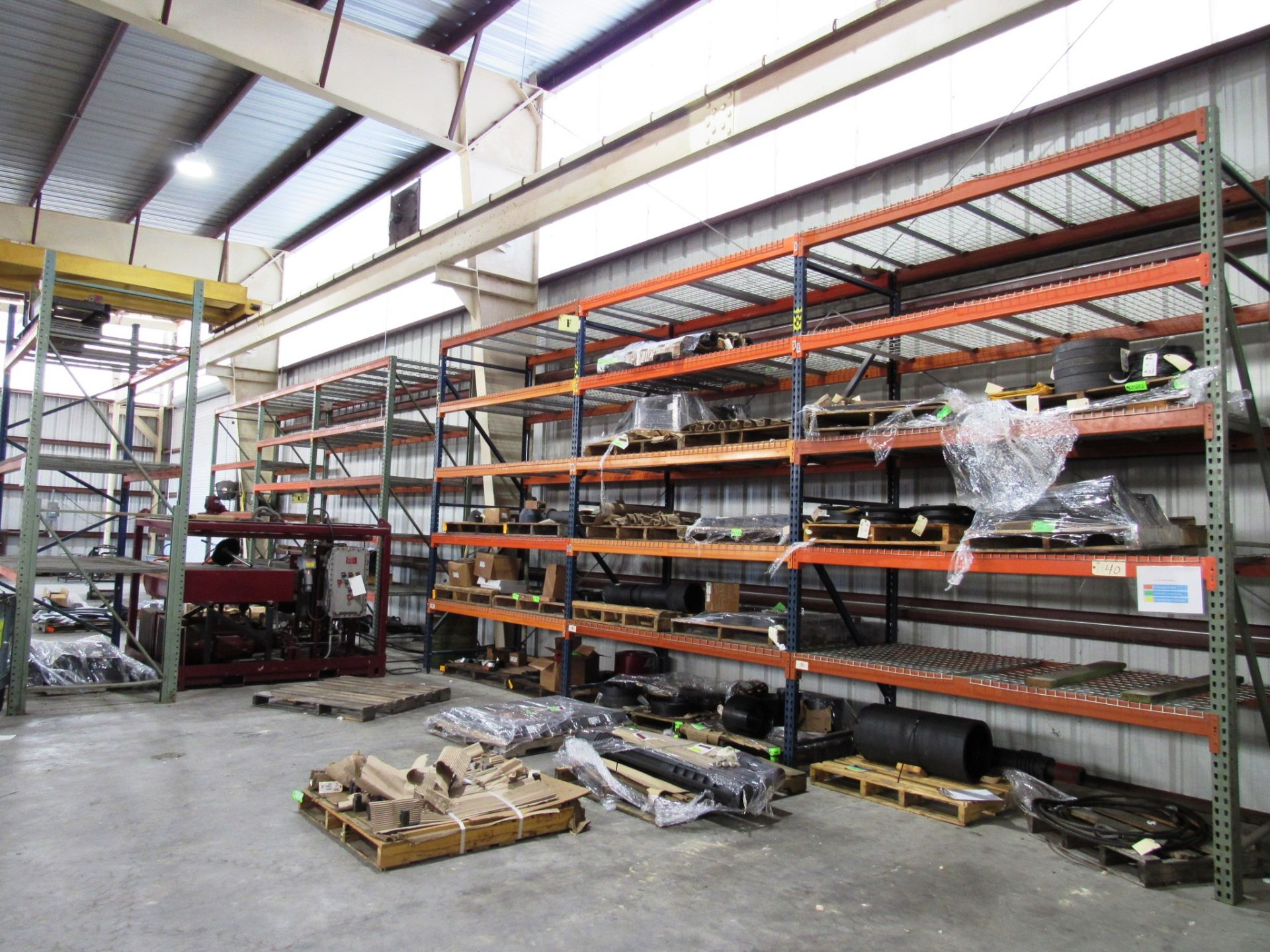 Lot 40 - 7 Sections Pallet Racking (no contents)