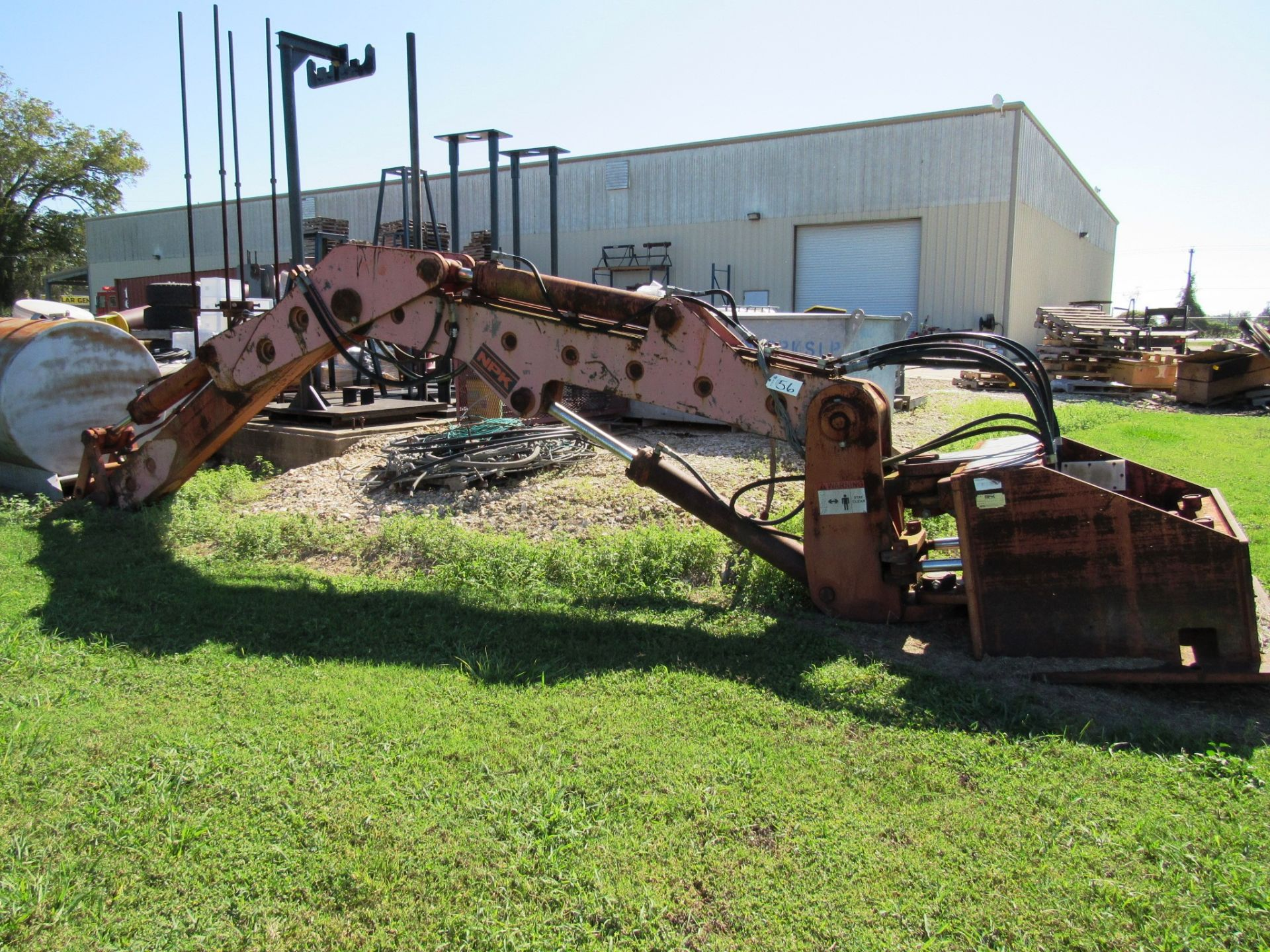 Lot 56 - NPK B600H Hydraulic Pedestal Boom & Backhoe Attachment, sn:1N6201