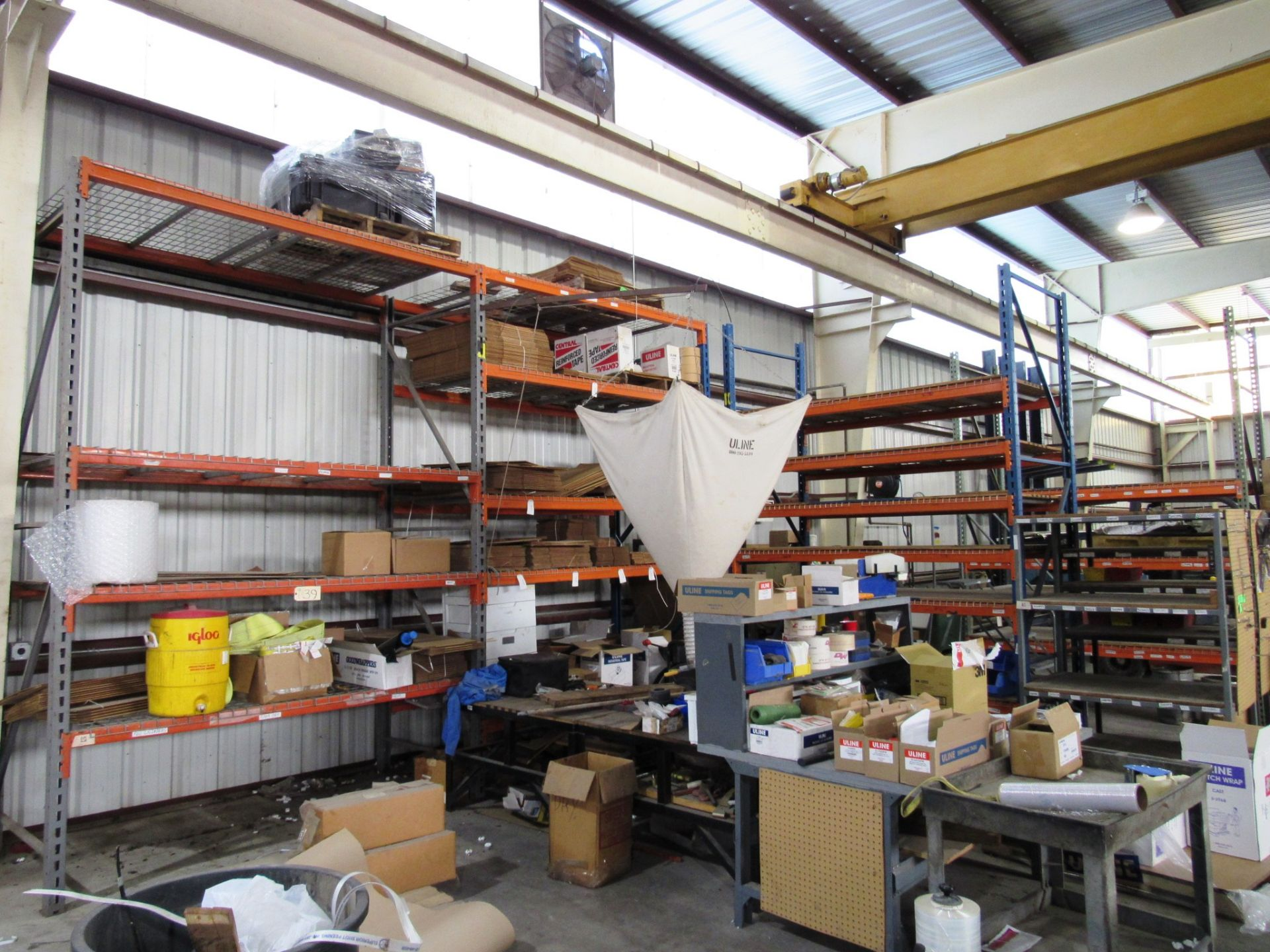 Lot 39 - 4 Sections Pallet Racking (no contents)