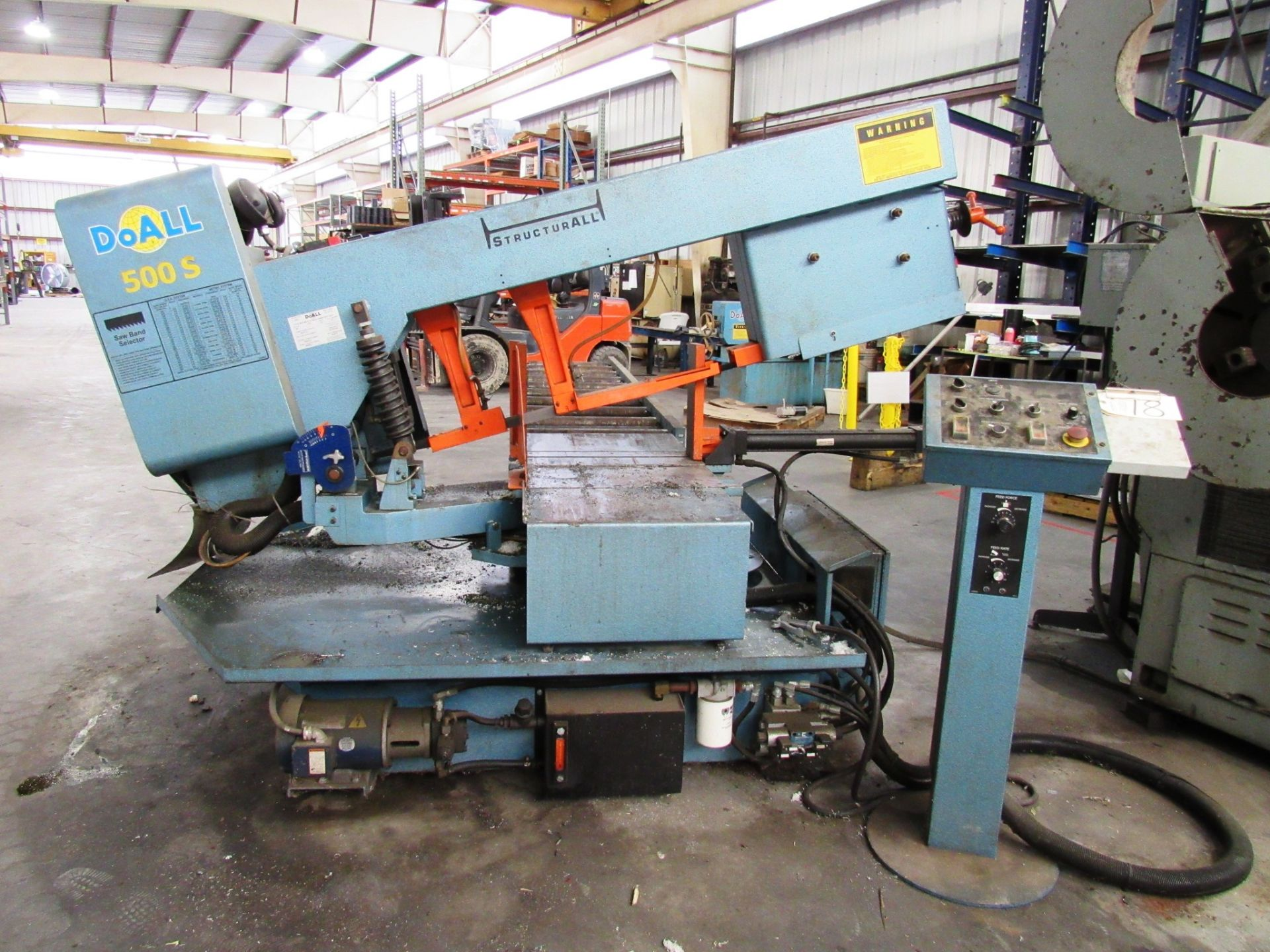 Lot 18 - DoAll 500S Mitre Cutting Horizontal Bandsaw