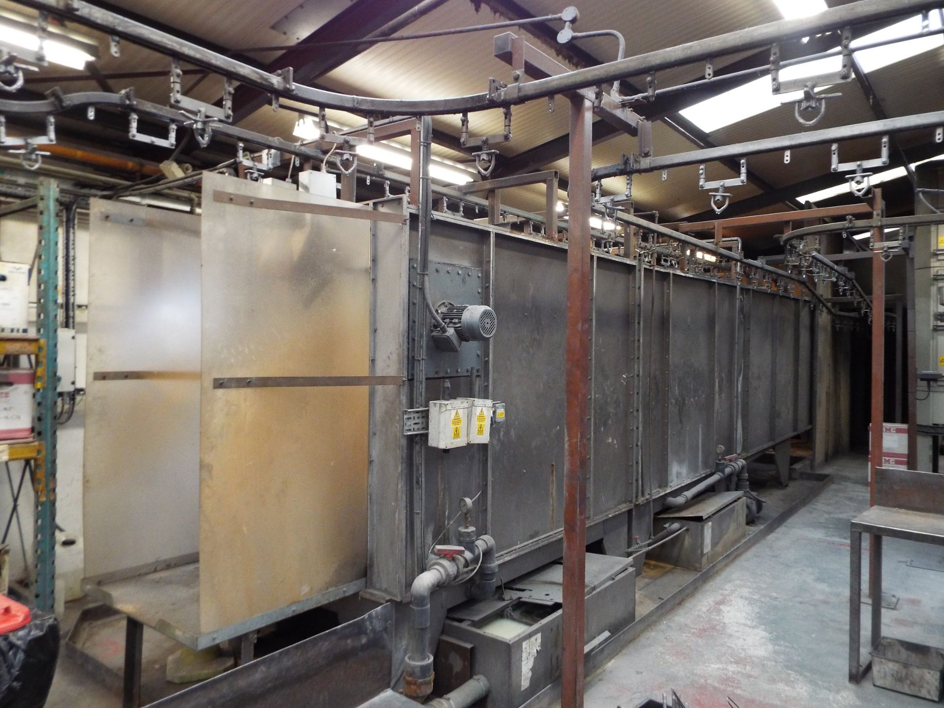 Lot 1 - Complete Contents Of A Modern & Compact Nordsen Powder Coating Line cw On-Line Pretreatment.