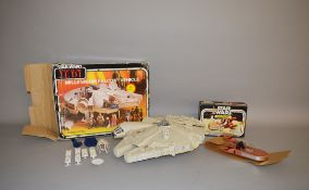 A boxed Palitoy Star Wars 'Land Speeder' vehicle in G box with card packing piece together with a