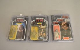Three Star Wars Return Of The Jedi figures including x2 of the last 17.