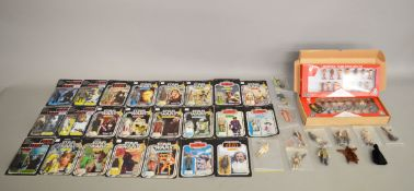 Twenty three Star Wars carded action figures including many reproduction/custom items,