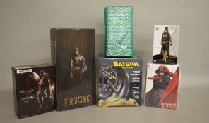 Six DC collection of Batman and Batgirl statues which includes;