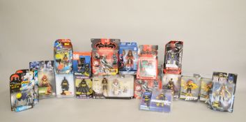 Sixteen boxed and carded 'Batgirl' action figures by various manufacturers including Kenner,