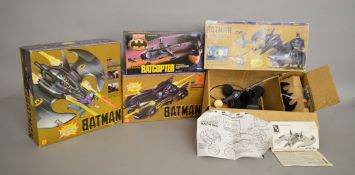Four boxed Batman related toys, a Blue-Box 'Batwing',