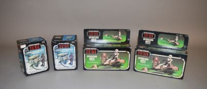 Four Star Wars Return Of The Jedi sets which includes; Vehicle Maintenance Energizer by Kenner x2,