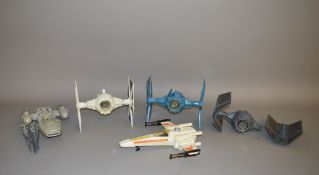 Star Wars vehicles by Kenner x5 which includes; Battle damaged Tie Fighter,
