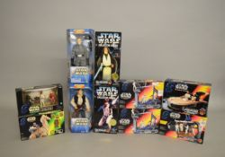Ten Star wars figures and playsets which includes; The Power Of The Force, by Kenner; Ronto & Jawa,