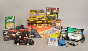 Assorted toys including; Jotastar Batman electronic pinball,
