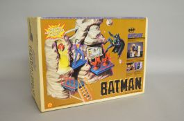 A boxed 'Toy Biz' #4417 Batman 'Batcave Master Playset', appears unopened, in G+ box.