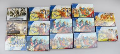 Fourteen Perry Miniatures figure sets, mostly Napoleonic. Boxed and complete.