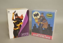 Two Batgirl figures including; Batman classic TV series, Premier Collection Batgirl resin statue.