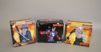 Three boxed Gentle Giant mini bust figurines, Marvel Iron Man 3 'Iron Patriot',