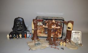 A boxed vintage Palitoy Star Wars Ewok Village Action Play set, unchecked for completeness,