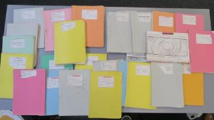 Supergirl original mimeographed production storyboards in titled folders dated from 1982 to 1983