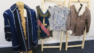 Four Western Costume Co Hollywood costumes all with printed labels including Cloris Leachman long