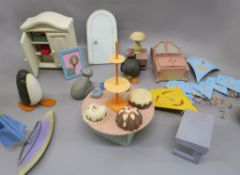 Pingu original prop stop-motion animation models including the screen used characters, furniture,