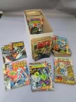 Lot 253 - Collection of mostly Marvel comics in a comic box titles include The Fantastic Four #86 (Dr Doom