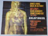Lot 98 - Goldfinger (1964) Original British Quad film poster printed by Stafford & Co Ltd Nottingham &
