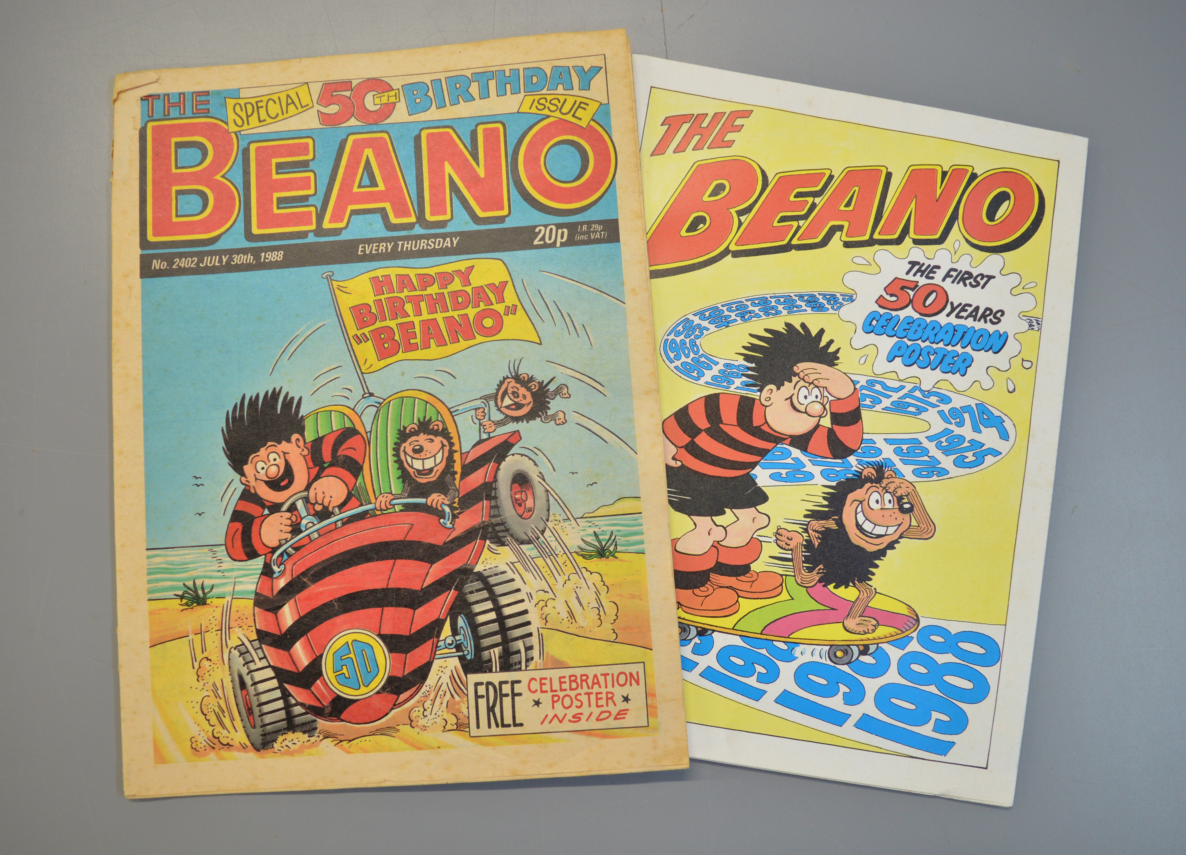 Lot 309 - Beano comic, July 30th 1988, The Special 50th Birthday issue, complete with Beano poster.