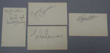The Beatles autographs - Paul McCartney, John Lennon,