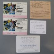 JAMES BOND 007 : On Her Majesty's Secret Service tickets and receipt from Mr Brian Bailey who