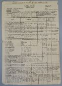 """Doctor Zhivago"" original Call Sheet no 64 dating from 25th February 1965 for the filming in Spain,"