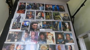 A collection of Star Trek photographs most of which are signed by the stars the collector attended