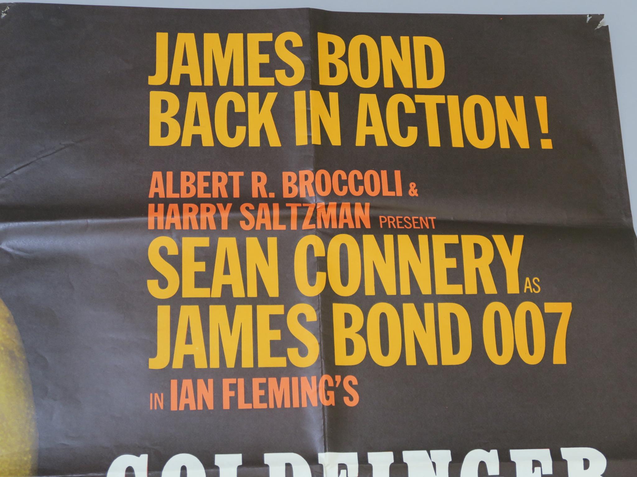 Lot 99 - Goldfinger (1964) Original British Quad film poster printed by Stafford & Co Ltd Nottingham &