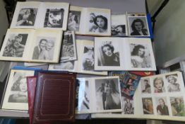 Female film stars a collection of photograph albums mainly depicting female film stars but many