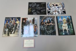 Cast signed photos some with certificates including The Game of Thrones cast (Kae Alexander,